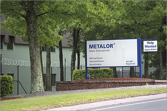 Swiss company Metallor processes millions of dollars in gold at its nondescript North Attleborough compound.
