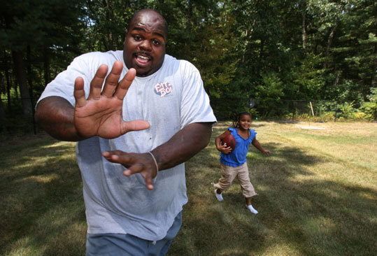 Despite being weary from the demands of football, Wilfork finds time to play with his children. ''When it's my day off, I want to relax, but when you got kids, your day off really isn't a day off. They think 'Daddy's home. Let's catch up.' It's hard to do, but I try as best as I can.''