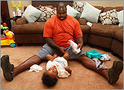 Vince Wilfork changes his 1-year-old son
