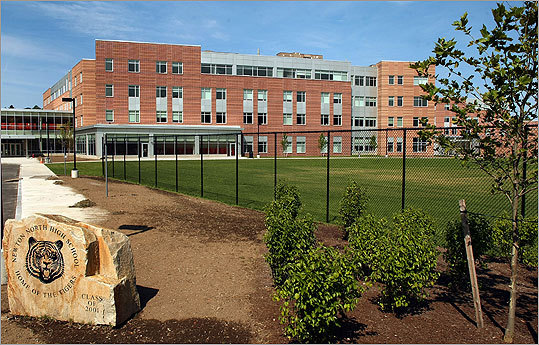 The high school is designed for 1,850 students and is 412,753 square feet.