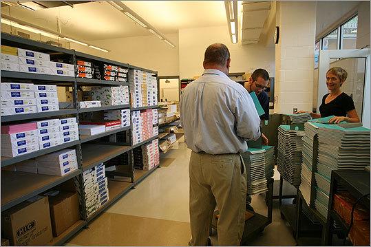 The high school's print lab.