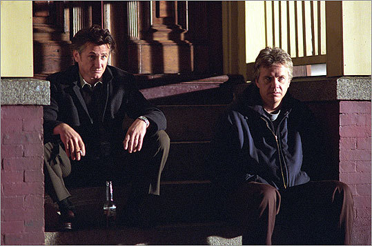 'Mystic River' (2003) Clint Eastwood's dark and powerful account of childhood sexual abuse and violence was released at the height of the Catholic church abuse scandals in Boston and elsewhere around the world. It also marked the resurgence of movies filmed in Boston. Parts of the film were shot in and around South Boston. At left, Sean Penn and Tim Robbins in a scene from the film.