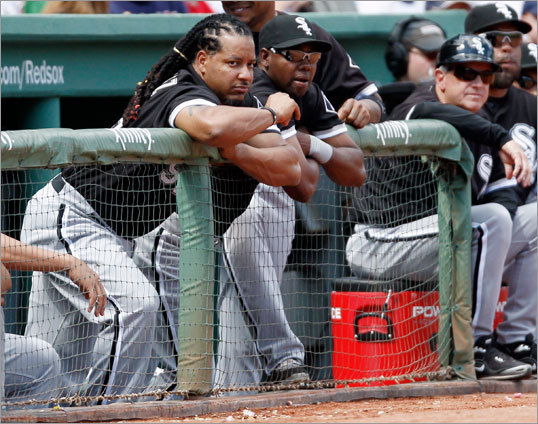 Manny Ramirez was not in the starting lineup for the White Sox Sunday, though he did pinch hit later in the game.