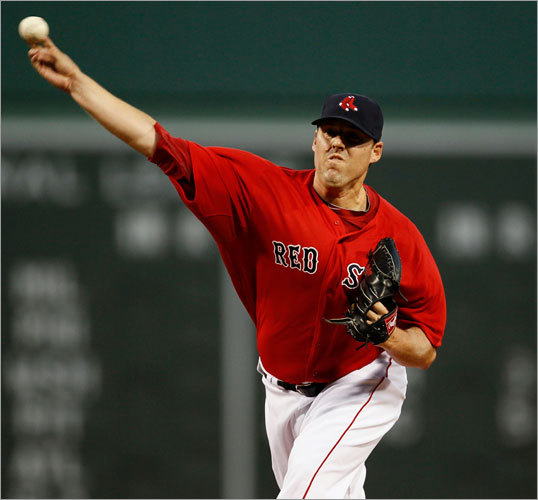 John Lackey started Saturday night's game for the Red Sox and pitched well, giving up one earned run in seven innings.