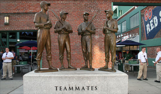 Teammates statue outside Gate B.
