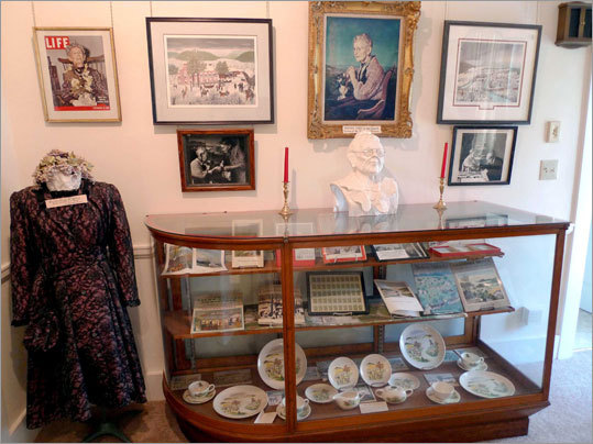 The Louis Miller Museum in Hoosick Falls has a small display of Grandma Moses memorabilia.