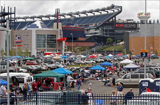 The parking lots at Gillette Stadium filled early as fans tailgated before the first game of the regular season.