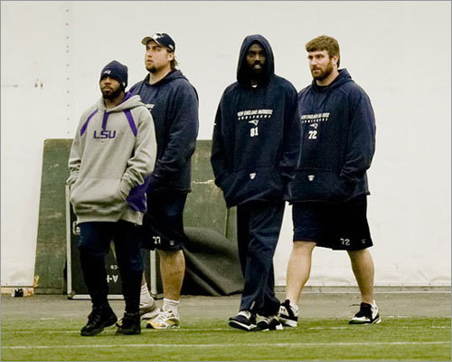 On Dec. 9, 2009, Moss and three other players were sent home after they reported late for practice. The players -- Adalius Thomas, Gary Guyton and Derrick Burgess -- blamed bad weather, but compounding the situation was the fact that quarterback Tom Brady arrived on time despite the birth of his son the night before.