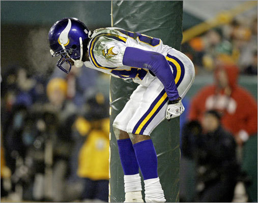 Moss had a run of controversial moments while with the Vikings. In 2005, he was fined $10,000 for an end-zone celebration that included him pretending to pull down his pants and 'moon' the Green Bay crowd. His comments after that only fanned the flames. He told one reporter 'Ain't nothing but 10 grand. What's 10 grand, to me?' The full exchange, according to an ESPN article: Reporter: 'Write the check yet, Randy?' Moss: 'When you're rich you don't write checks.' Reporter: 'If you don't write checks, how do you pay these guys?' Moss: 'Straight cash, homey.' Reporter: 'Randy, are you upset about the fine?' Moss: 'No, cause it ain't [expletive]. Ain't nothing but 10 grand. What's 10 grand to me? Ain't [expletive] … Next time I might shake my [expletive].'