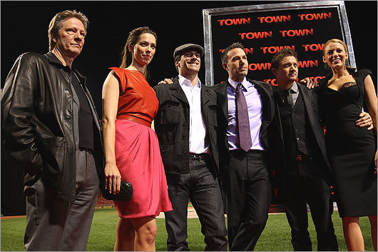 Sept. 14 / Fenway Park The Boston-based crime drama 'The Town' had a special premiere at Fenway Park. The cast of the film (from left): Chris Cooper, Rebecca Hall, Jon Hamm, Ben Affleck, Jeremy Renner, and Blake Lively.
