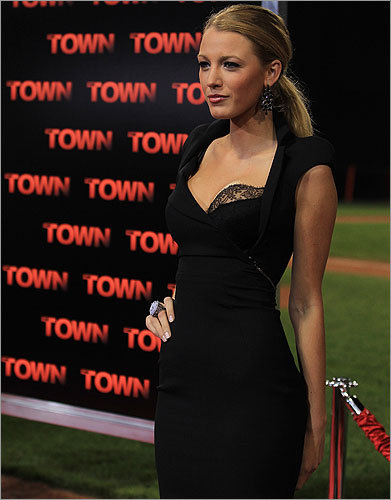 Sept. 14 / Fenway Park Blake Lively poses for photographers at the Fenway premiere.