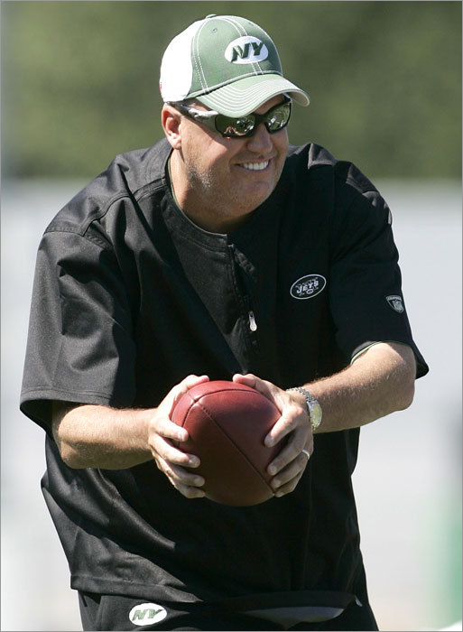 "Perhaps Ryan's most notorious quote on 'Hard Knocks' came after he caught his team eating hamburgers on the practice field. ""You can be a world champion, but not like this. We won't win it! We'll sit back and say, 'Why didn't we do it?' We didn't do it because where were our [expletive] priorities? How about our offense? When are we going to put it together? When are we going to put it together? Can we not run the ball down their throats every snap? Can we not throw it any time we want to [expletive] throw it? Let's make sure we play like the [expletive] New York Jets! And not some [expletive] [expletive] team. That's what I want to see tomorrow. Do we understand what the [expletive] I want to see tomorrow? Let's go eat a [expletive] snack."""