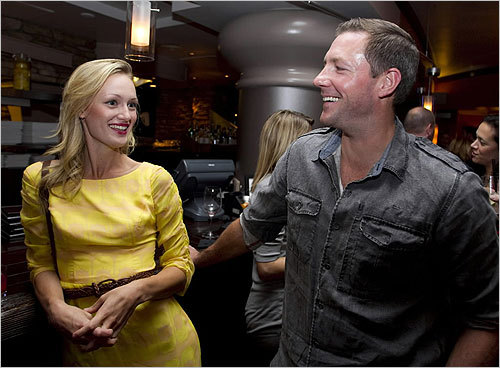 From left, actor Kerry Bishe, along with writer and actor Ed Burns on Sept. 19.