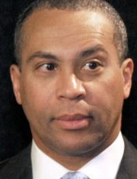 Deval Patrick accepted the endorsement quietly.