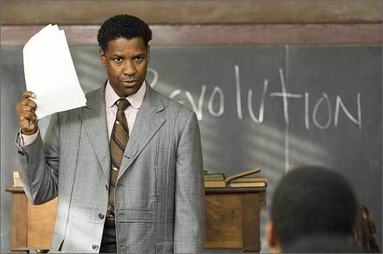The Great Debaters, 2007 This stirring film starred Denzel Washington as an inspirational debate team coach who leads a team of students from segregated Texas to a victory against Harvard. Though the showdown was fictional, coach Melvin Tolson and the Wiley College debate team were very real, and their story was moving enough to be the first filmed on Harvard ground in years.