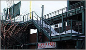 Fenway Park covered in snow