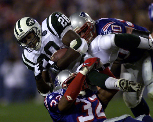 Curtis Martin Hall of Famer Curtis Martin may have been the best Patriot player to leave town too soon. From 1995-97, Martin performed as the big time running back the team had lacked for so many years, rushing for 3,799 yards with 32 touchdowns in that span. Then Pete Carroll, in what he later said was the biggest regret of his coaching career in New England, let Martin slip away to the New York Jets as a restricted free agent in exchange for a first- and third-round draft pick. Martin was awarded a six-year, $36 million contract for the move to the NYJs, where he starred for eight seasons, while the Patriots selected running back Robert Edwards with the first-round draft pick and fullback Chris Floyd with the third-round selection. Edwards looked to be every bit the legit replacement for Martin until he sustained a devastating knee injury playing beach football at the NFL Pro Bowl after the 1998 season.