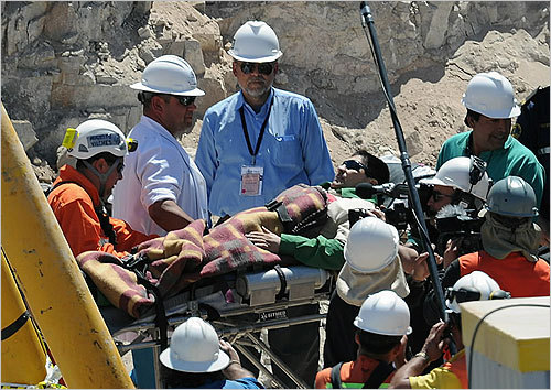 Esteban Rojas was the 18th miner rescued on Wednesday.