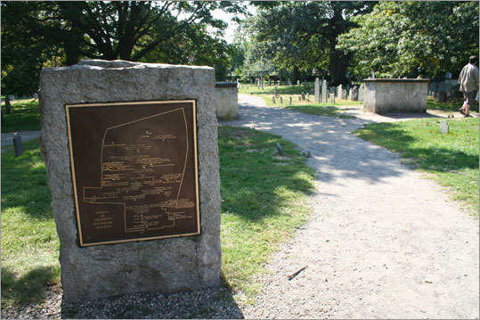 The Burying Point is the oldest burying ground in the city of Salem. Around the corner, find the Witch Trials Memorial, dedicated in 1992 as part of the Salem trials' tercentenary.