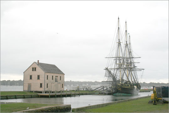At Salem Harbor, you'll find the Friendship is a full-size replica of a 1797 merchant vessel that disappeared during the War of 1812. Tours are available.