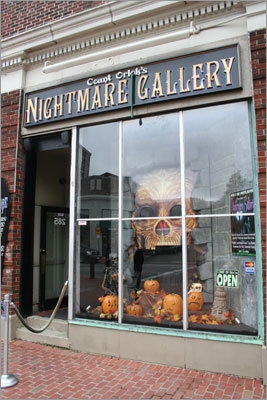 Journey into the history of horror cinema at Count Orlock's Nightmare gallery, a unique attraction near the waterfront.