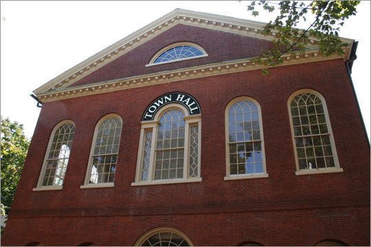 Old Town Hall is the earliest surviving municipal structure in Salem, opened in 1816.