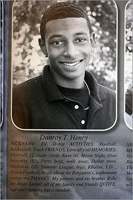 Henry seen in his senior yearbook photo.