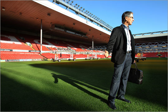 The morning after the sale went through, Henry made an trip to Anfield, the home stadium of Liverpool FC. He surprised a security guard, who had to scurry to find his keys. Henry called the famous field ''magical,'' adding, ''It has tremendous charm.''