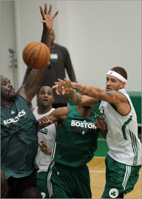 The Big Three are still here. So is Rajon Rondo. And the Celtics added some big names this offseason, including Shaquille O'Neal (left) and old friend Delonte West (right). It would be easy to say that the performance of those players will dictate the team's success this season, but several others on the squad figure to have a dramatic impact. Without stating the obvious -- Kevin Garnett's health is of course crucial -- let's take a deeper look at the five players most critical to the team's success this season.
