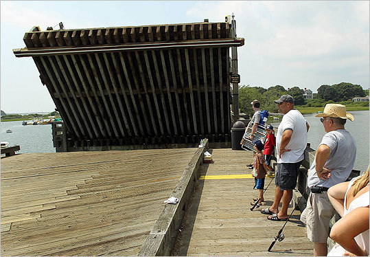 People watched as the Mitchell River Bridge was opened.