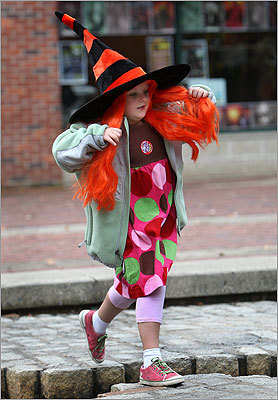 October 2009 Addison Smith, age 6, was dressed for the season as she explored the festivities in downtown Salem.