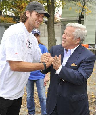 Tom Brady and Robert Kraft.