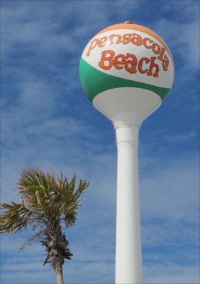 The Pensacola Beach icon at Casino Beach.