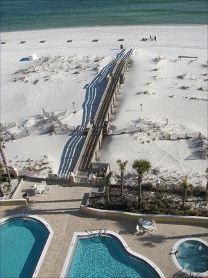 Florida's Pensacola Beach is on Santa Rosa Island, a 40-mile-long barrier island.