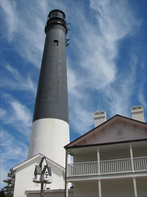 Built in 1859 and still in use today, the 160-foot Pensacola Lighthouse is the fourth tallest brick lighthouse in the nation.