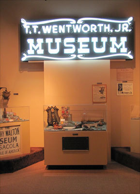 At the T.T. Wentworth Jr. Florida State Museum the name alone conjures images of a carnival, which pretty much sums up this eclectic 150,000-piece collection of historical artifacts, Americana, and west Florida history.