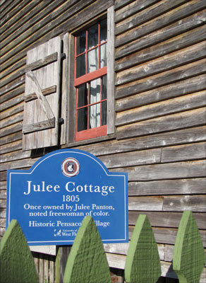 The Julee Cottage is part of the the Historic Pensacola Village home tours. Even if you don't take one of the three guided daily tours, you can pick up a map with descriptions of the 27 properties, some of which you can see on your own for free.