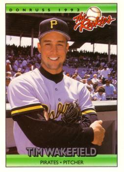 Wakefield was drafted by the Pittsburgh Pirates in the eighth round of the 1988 amateur draft. He made his major league debut in 1992 for the Pirates and finished third in NL Rookie of the Year voting after compiling an 8-1 record with a 2.15 ERA over 92 innings. Wakefield started twice in the 1992 NLCS, once in Game 3 with the Pirates down 2-0 in the series, and again in Game 6 with Pittsburgh down 3-2. The rookie threw two complete games and beat Atlanta's Tom Glavine twice. Wakefield struggled in his second season with the Pirates, going 6-11 with a 5.61 ERA. Wakefield spent most of 1994 with Triple-A Buffalo. He was released by the Pirates on April 20, 1995 and signed with the Red Sox six days later.