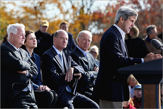 Senator John Kerry also turned out to support Keating.