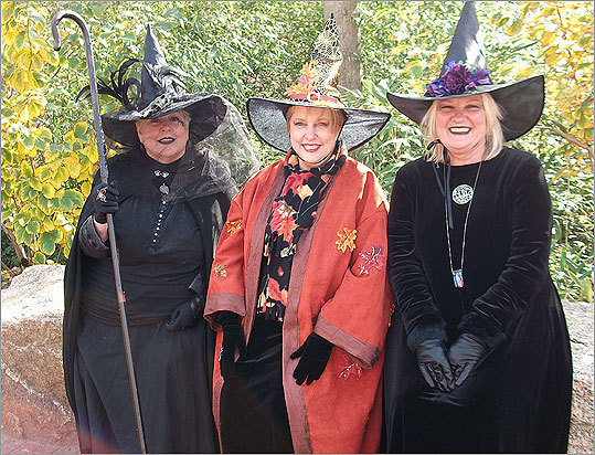 October 2010 Honey Amirault, left, of Nahant, Susan Cassidy, center, of Chelmsford, and Diane Ogiba of Tewksbury enjoyed meeting people from all over the world who came to celebrate Halloween in Salem.