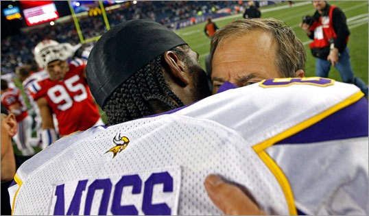 The Minnesota Vikings released Randy Moss in Nov. 2010, just four weeks after Moss was traded by the Patriots to Minnesota for a third-round pick. Moss was picked up by the Tennessee Titans where he caught six passes for 80 yards over the remainder of the 2010 season.
