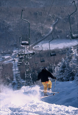 TIME TRAVEL: Mad River Glen, Vt. So-retro-it's-chic Mad River has three double chairs, one single chair, little snowmaking, and 115 acres of classic New England gnarly terrain. Ski it if you can, but don't even think about snowboarding; it's banned. - 802-496-3551, www.madriverglen.com
