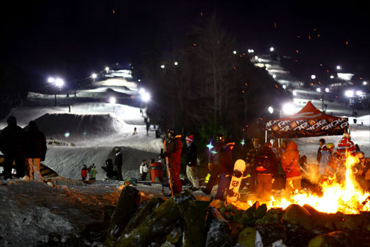 BURN THE MIDNIGHT OIL: Crotched Mountain, N.H. When you have a hankering to ski or ride at 2 a.m., slide over to Crotched, which leaves the lights on until 3 a.m. on Friday and Saturday nights in January and February. A bonfire and a concert series keep even the most sleepy-eyed entertained. - 603-588-3668, www.crotchedmountain.com