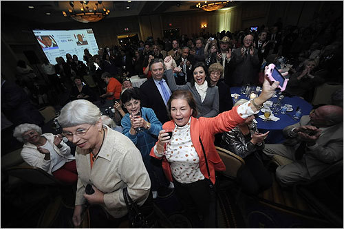 Manchin supporters celebrated his win.