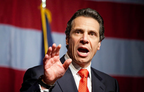 New York Governor-elect Andrew Cuomo spoke to supporters after resoundingly defeating his Tea Party-backed opponent, Republican candidate Carl Paladino.