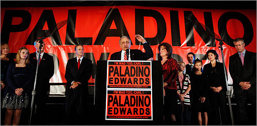 Republican gubernatorial candidate Carl Paladino conceded the election in Buffalo, N.Y.