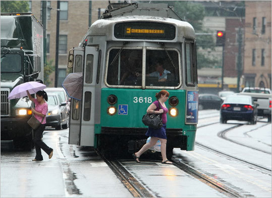 Public transportation and pedestrian-friendliness, No. 5 Bostonians may grumble about the T, but visitors indicate it's worse elsewhere, giving Boston high marks for public transportation and pedestrian access. Portland, Ore., finished first.