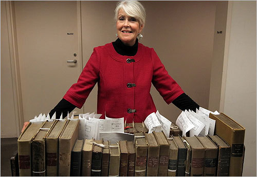 The items will also be on display in two BPL exhibitions that will open in mid-2011, which marks the 150th anniversary of the start of the Civil War. In this photo, Susan Glover, keeper of Special Collections at the BPL.
