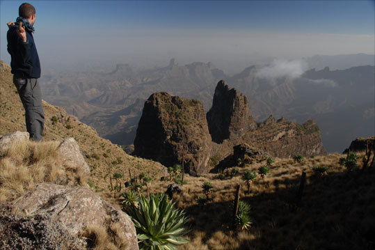 The wraparound views of Imet Gogo, ephemeral abutments disappearing into the haze, entice visitors to northern Ethiopia's Simien Mountains National Park. Read more.