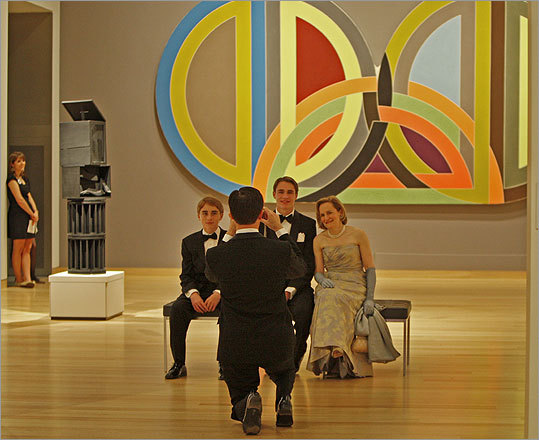 John Paolella took a picture of his sons James, 13, and William, 16, and his wife, Elliot Bostwick Davis — chief curator of the MFA's Art of the Americas.